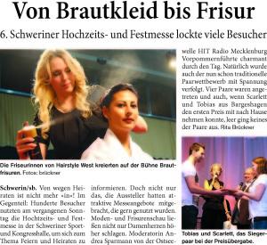 © Sonntagsblitz Schwerin / Text: Rita Brückner