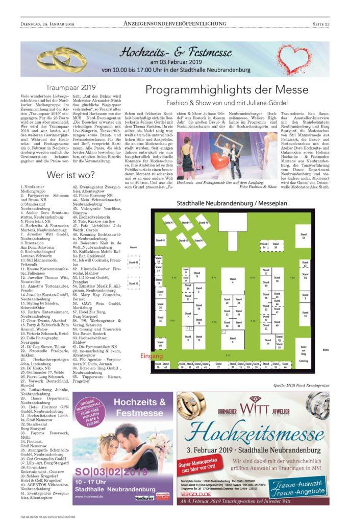 NK_NeubrandenburgerZeitungStargard_29.01.2019 Seite 23